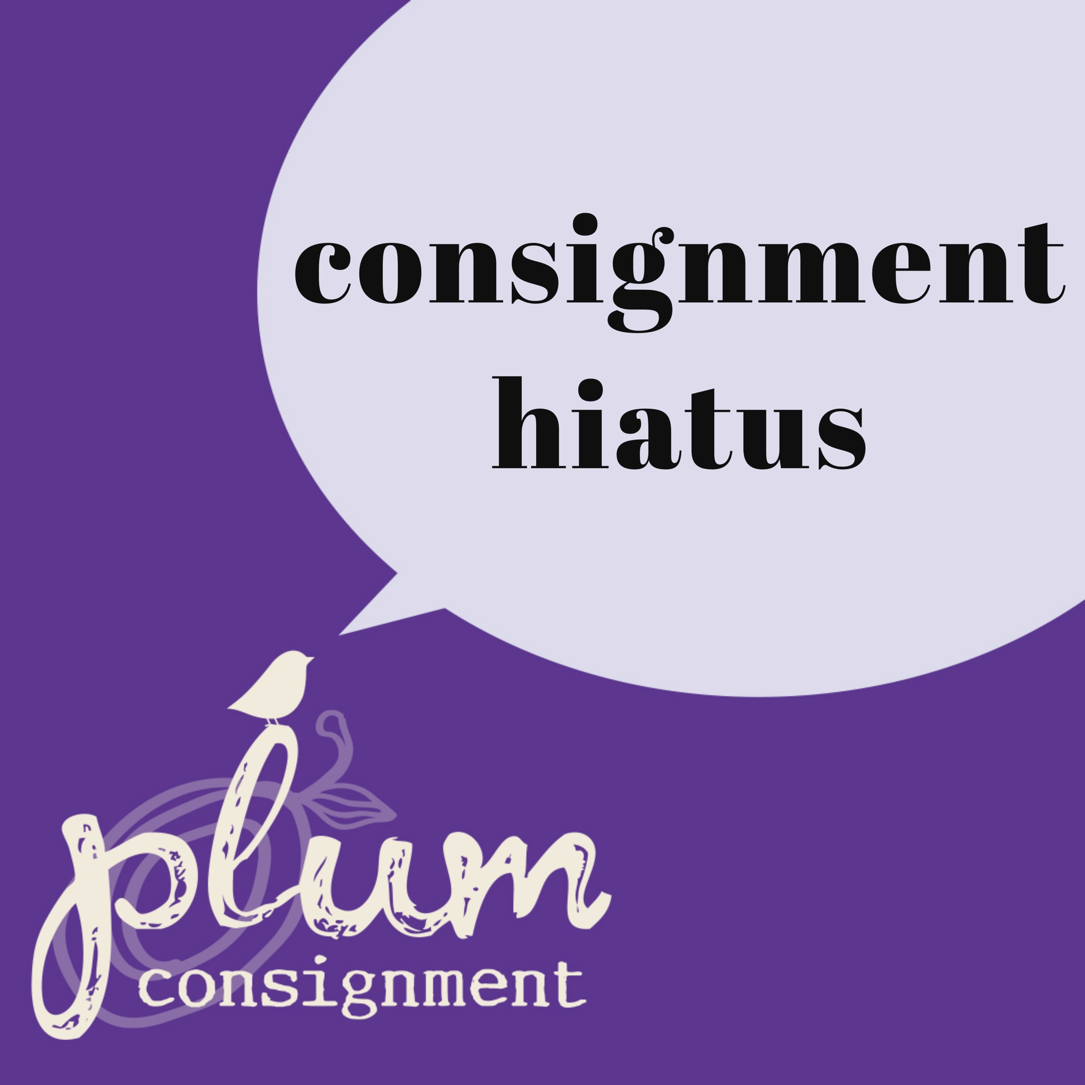 Consignment Hiatus until July